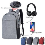 Anti-Theft USB Travel Waterproof Backpack With Charger - Crillow