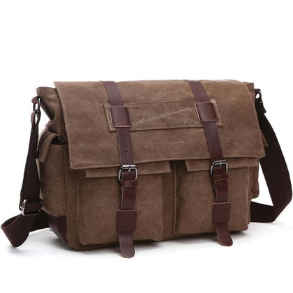 Scione Canvas Messenger Casual Shoulder Bags & Crossbody Backpack For Men - Crillow