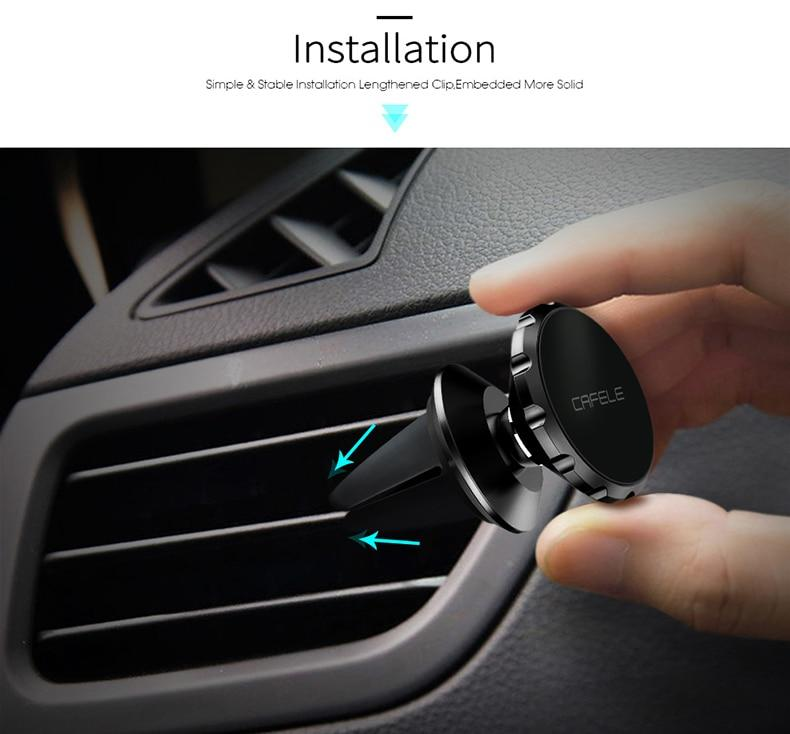 CAFELE Magnetic Car Cell Phone Holder & Universal Air Vent Mount