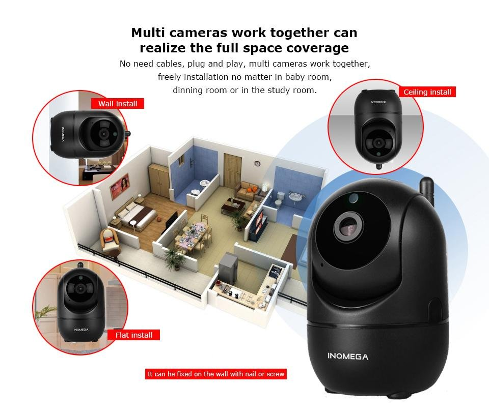 INQMEGA Wireless Security Camera System & Home Security Surveillance CCTV Camera Kit