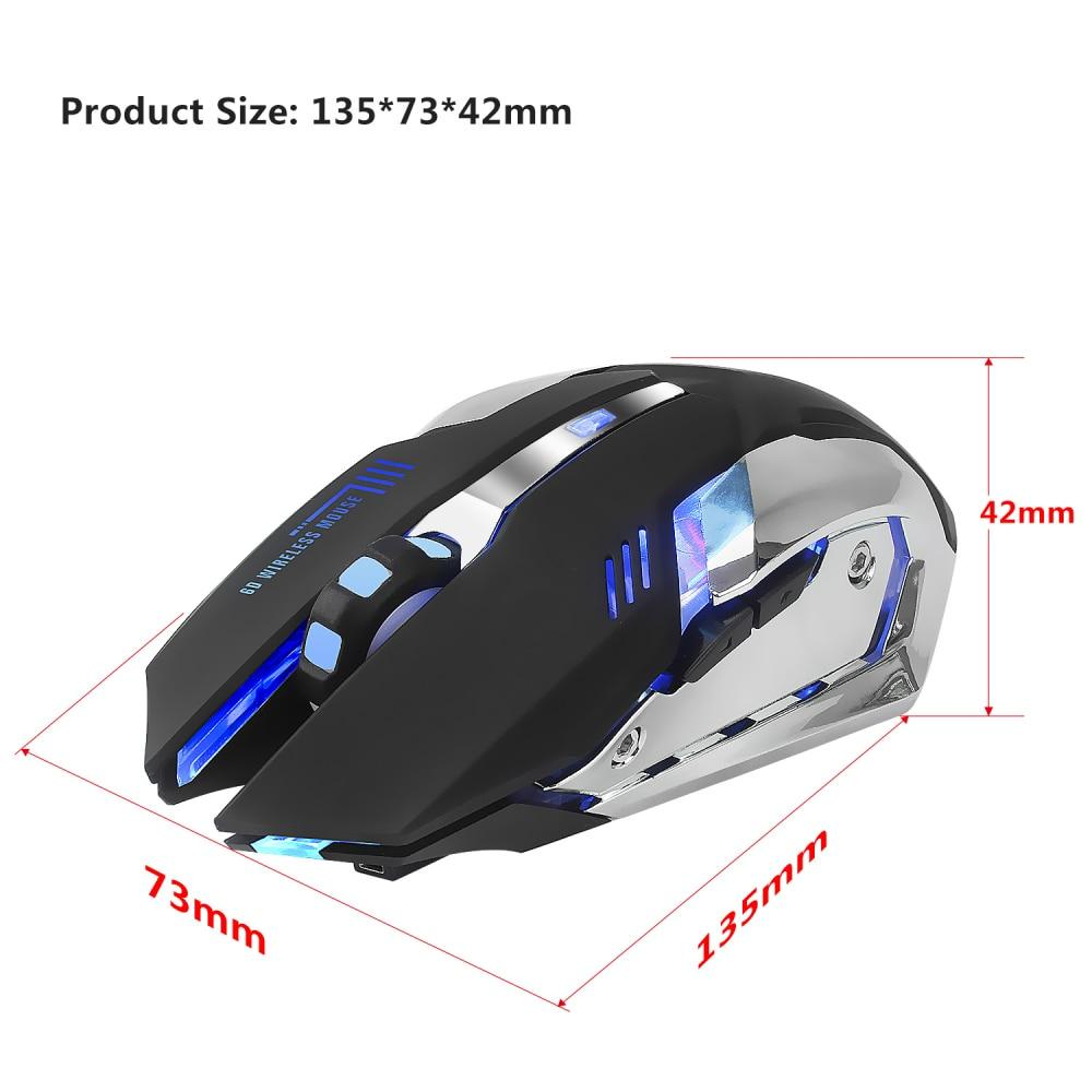 HXSJ M10 Wireless 2400dpi Rechargeable Gaming Mouse For Computer/Laptop