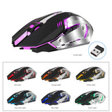 HXSJ M10 Wireless 2400dpi Rechargeable Gaming Mouse For Computer/Laptop - Crillow