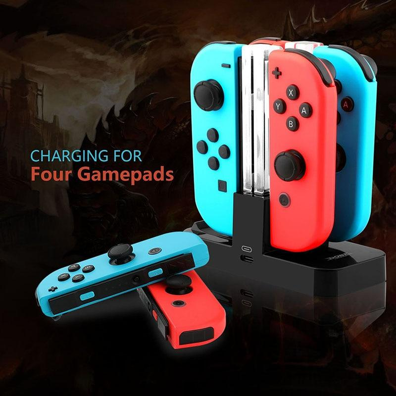 Nintendo Switch Pro Controller four-seat charger & Joy Con Charging Stand