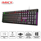 US Wireless Mechanical Gaming USB Keyboard With 104 Keys & Backlit Feature - Crillow