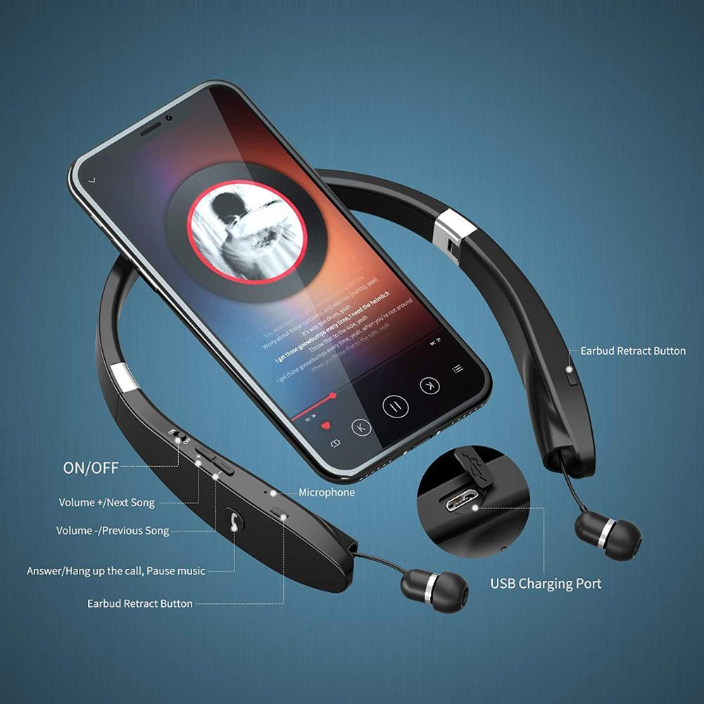 AMORNO Wireless Bluetooth Neckband Earbuds with Mic and Noise Cancellation