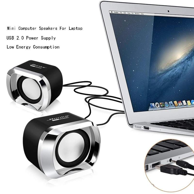 Ricoddaa Mini USB & Bluetooth Speakers For Computer/Laptop