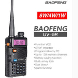 Baofeng UV5R Walkie Talkie Professional Two Way Radios - Crillow