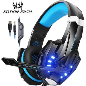 KOTION EACH Best Gaming Headphones With Mic For Mobile, PC, PS4 & XBOX - Crillow