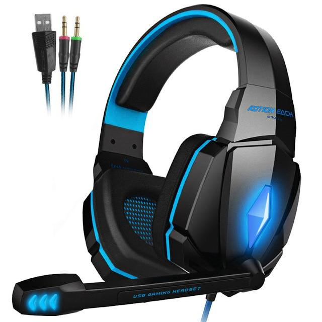 KOTION EACH Best Gaming Headphones With Mic For Mobile, PC, PS4 & XBOX