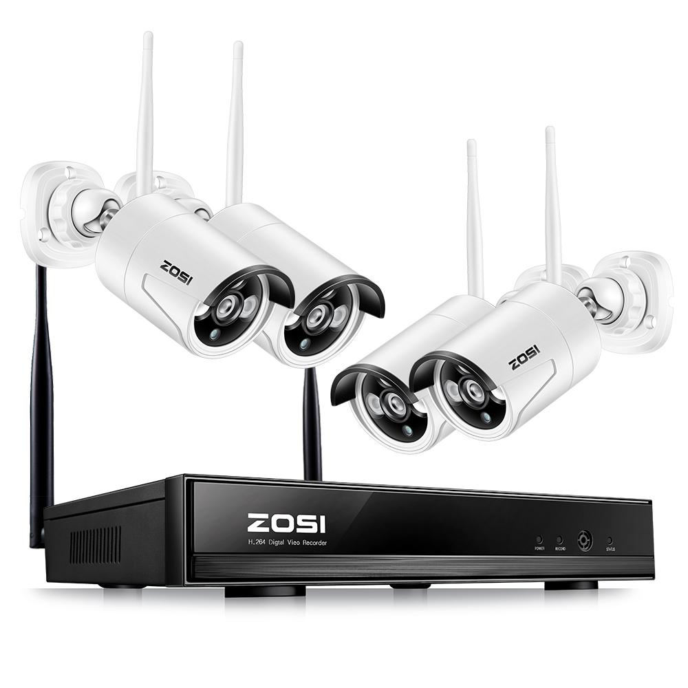 ZOSI Wireless Security Camera System & Outdoor Home Security 1080p Camera Kit