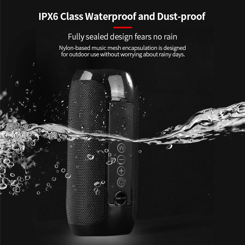 T&G 117 Waterproof Portable Bluetooth Speakers With TF Card & FM Radio Support