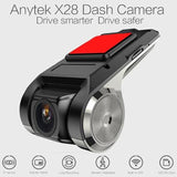 ANYTEK X28 Car Dash Cam, Electronic Accessories Camcorder With FHD DVR-1080p - Crillow