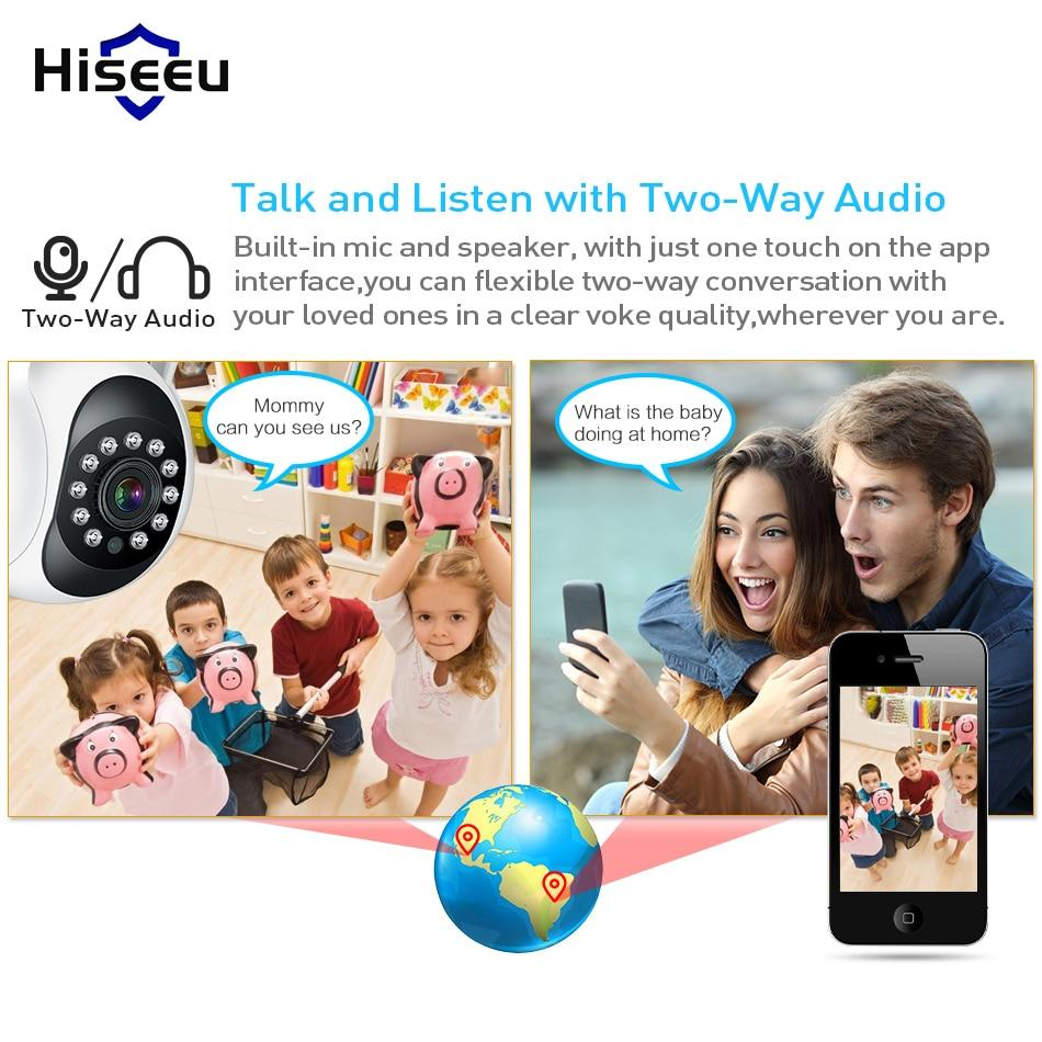 Hiseeu Night Vision CCTV Wireless Baby Monitor Camera & 1080p IP Surveillance Kit
