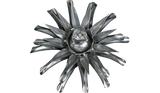 Platinum Clematis Flower, Metal Flower Wall Art - Watson & Co