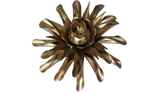 Gold Clematis Flower, Metal Flower Wall Art - Watson & Co