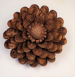 Rust Aster Flower, Metal Flower Wall Art - Watson & Co