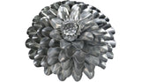 Platinum Aster Flower, Metal Flower Wall Art - Watson & Co