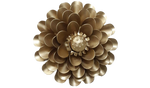 Gold Aster Flower, Metal Flower Wall Art - Watson & Co