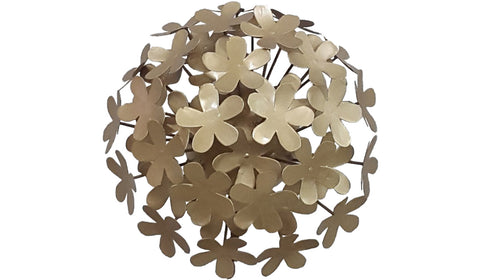 Gold Hydrangea Flower, Metal Flower Wall Art - Watson & Co