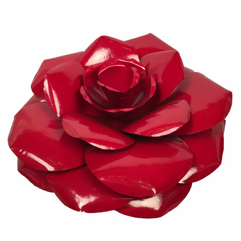 Red Rose, Metal Flower Wall Art - Watson & Co