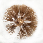 Gold Dandelion Flower, Metal Flower Wall Art - Watson & Co