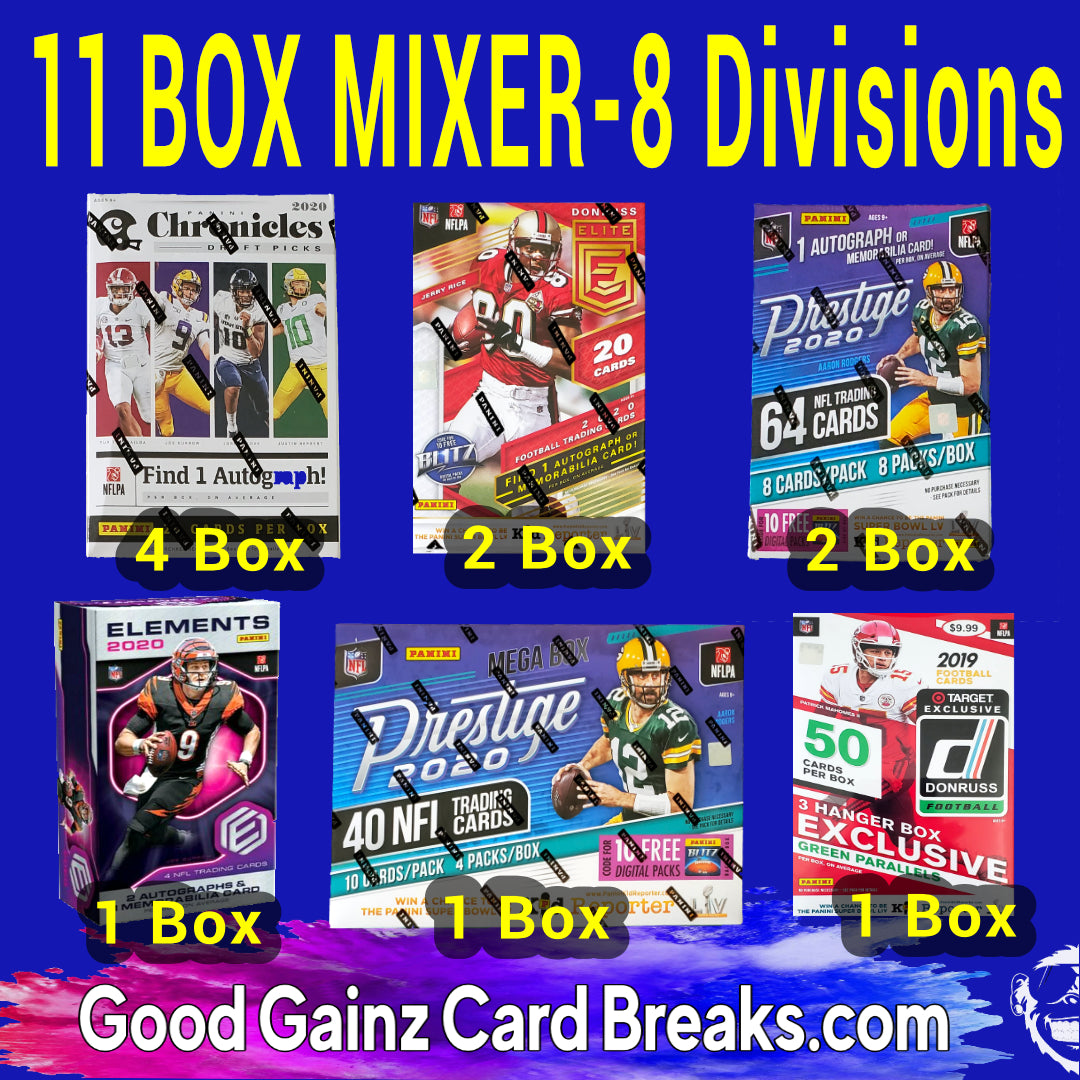 11-BOX FOOTBALL MIXER RANDOM DIVISIONS #2035