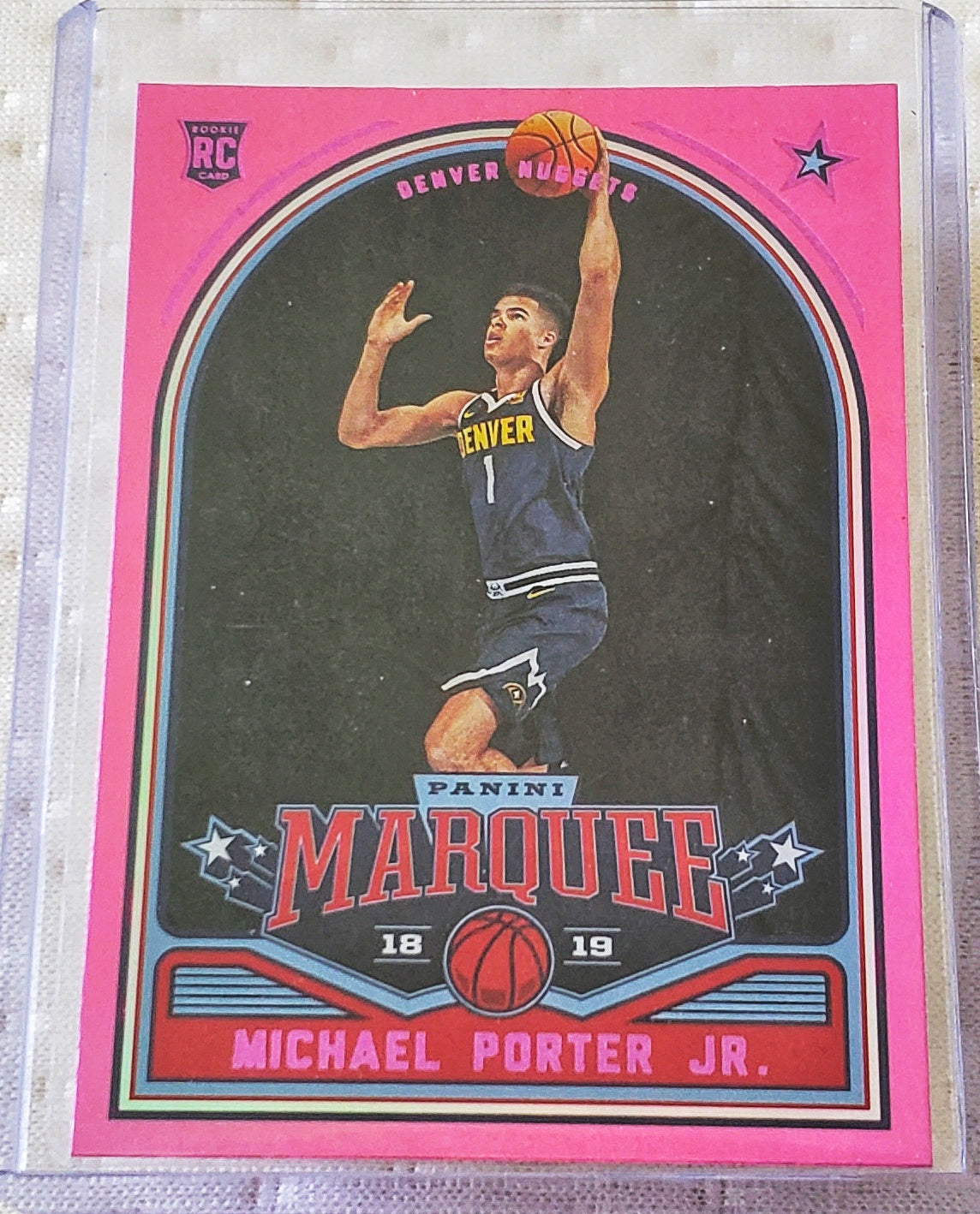 2018/19 Panini NBA Chronicles - Michael Porter Jr Pink Marquee RC
