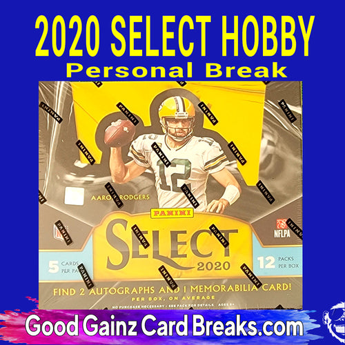 PERSONAL 2020 PANINI SELECT NFL HOBBY BOX BREAK