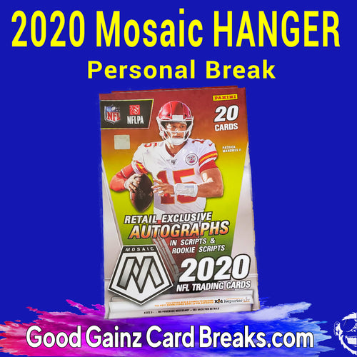 PERSONAL 2020 PANINI MOSAIC FOOTBALL HANGER BOX BREAK