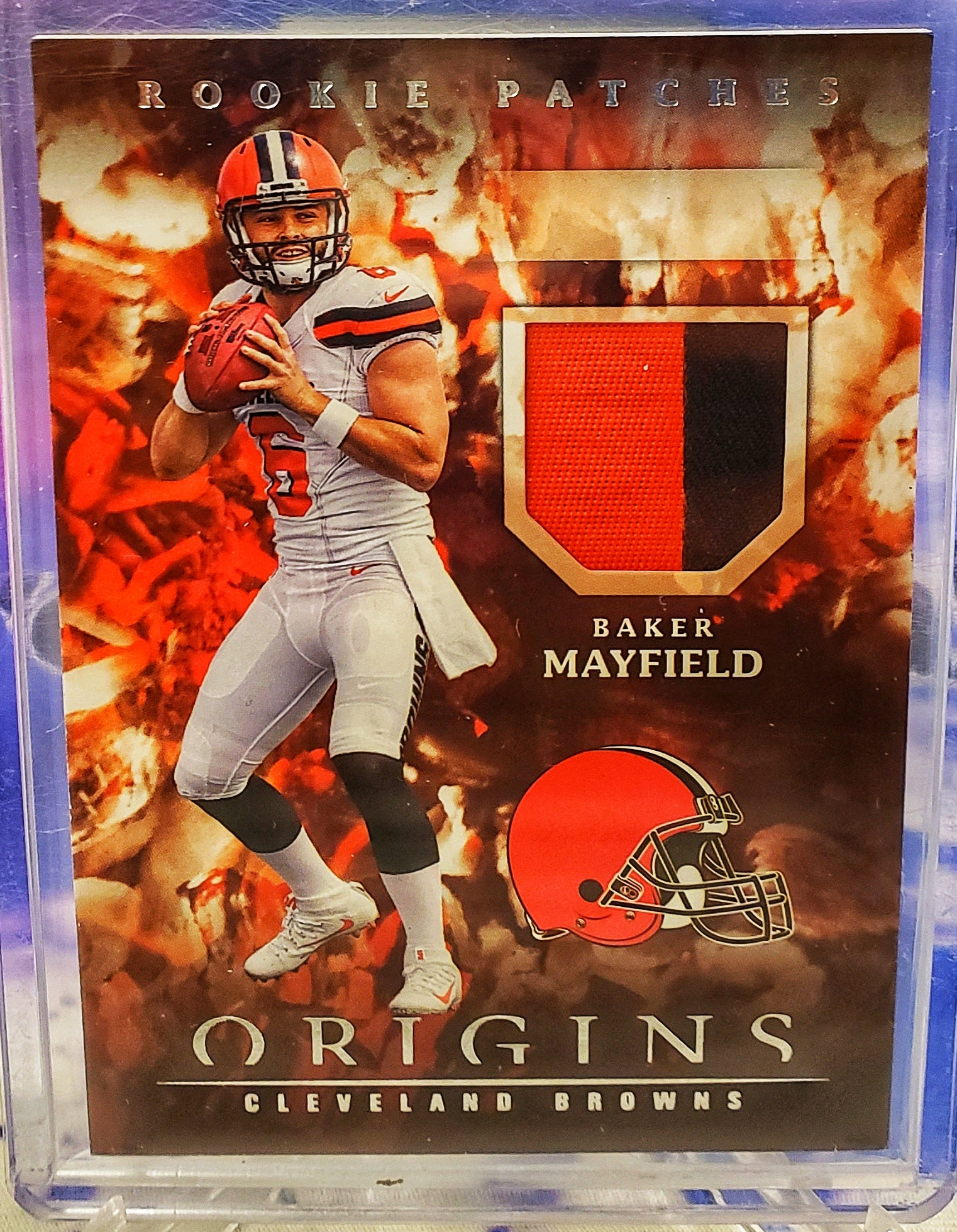 2018 Baker Mayfield Panini Origins Rookie 2 Color Patch