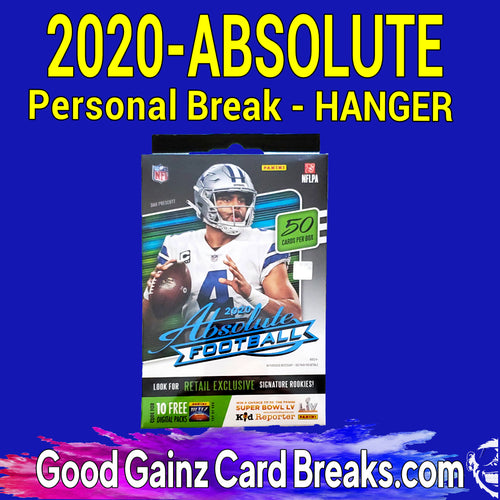 PERSONAL 2020 PANINI ABSOLUTE FOOTBALL HANGER BOX BREAK