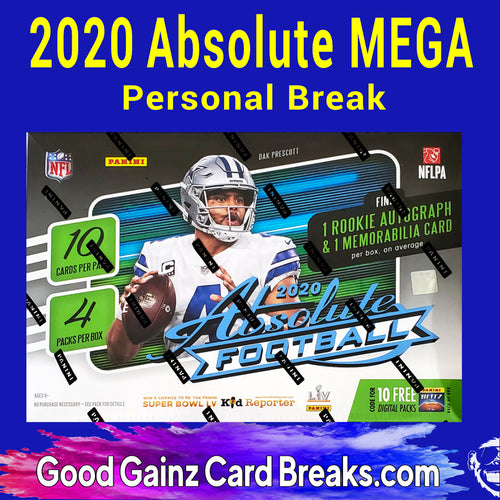 PERSONAL 2020 PANINI ABSOLUTE FOOTBALL MEGA BREAK