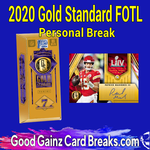 PERSONAL 2020 PANINI GOLD STANDARD FOTL HOBBY BOX BREAK