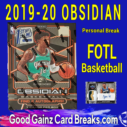 PERSONAL 2019/20 PANINI OBSIDIAN FOTL NBA BOX BREAK
