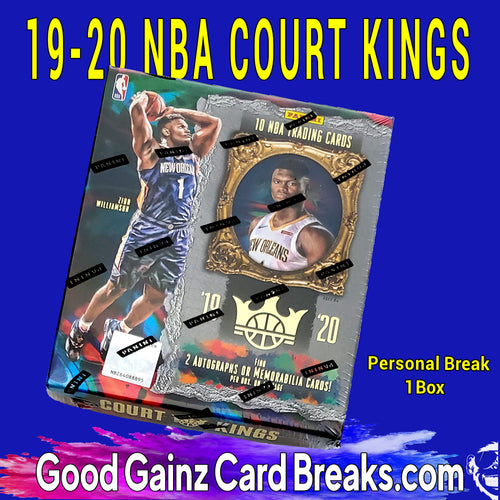 PERSONAL 2019-20 PANINI NBA COURT KINGS HOBBY BOX BREAK