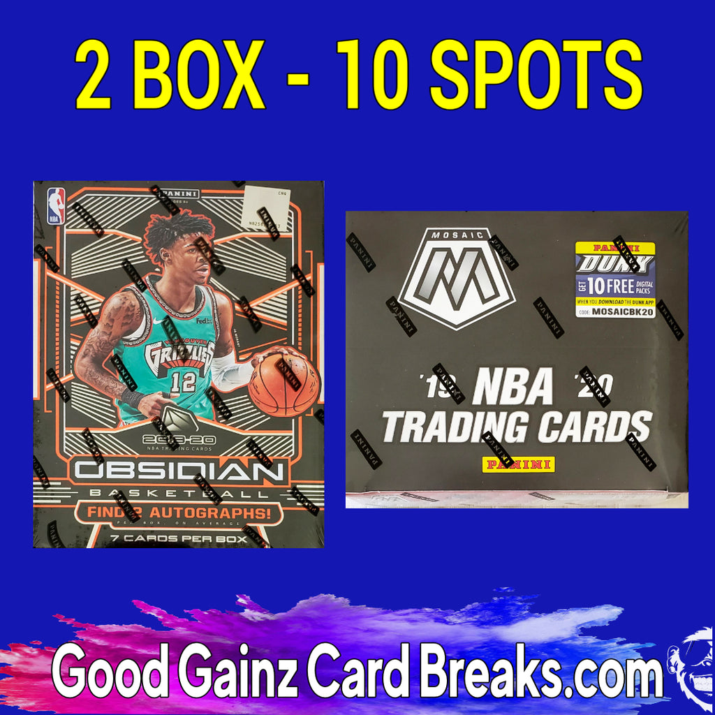 2-BOX BASKETBALL MIXER PICK YOUR SPOT/TIERED TEAMS #2036