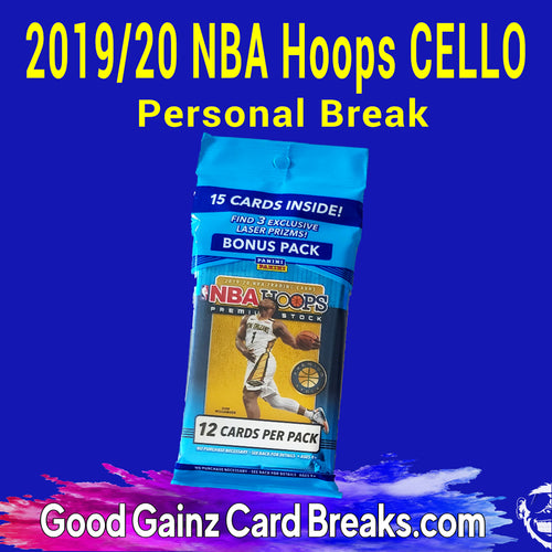 PERSONAL 2019/20 PANINI NBA HOOPS BASKETBALL CELLO PACK BREAK