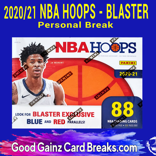 PERSONAL 2020/21 PANINI NBA HOOPS BASKETBALL BLASTER BOX BREAK