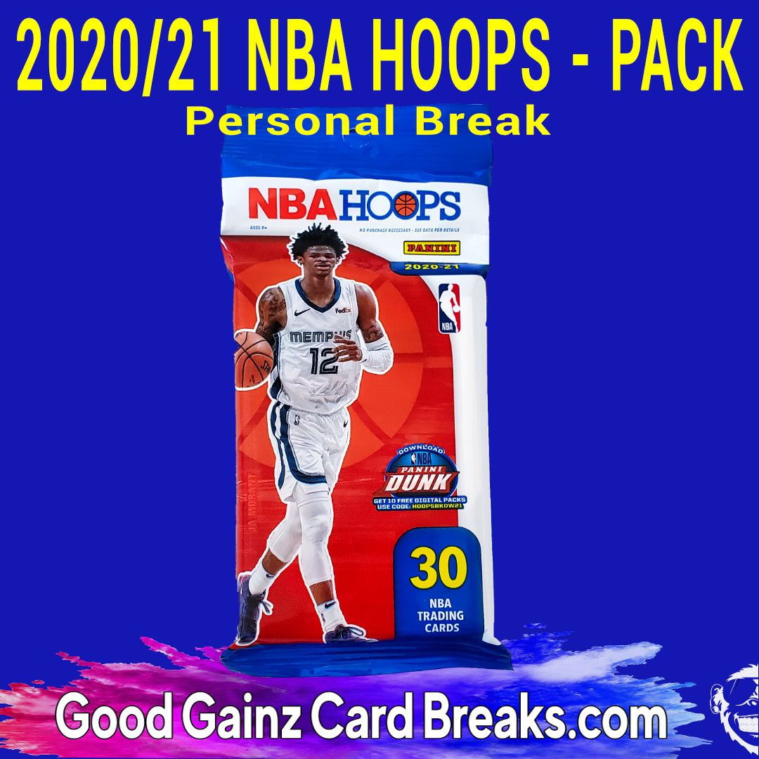 PERSONAL 2020/21 PANINI NBA HOOPS BASKETBALL VALUE PACK BREAK