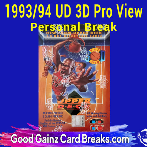 PERSONAL 1993/94 UPPER DECK 3-D PRO VIEW NBA BOX BREAK