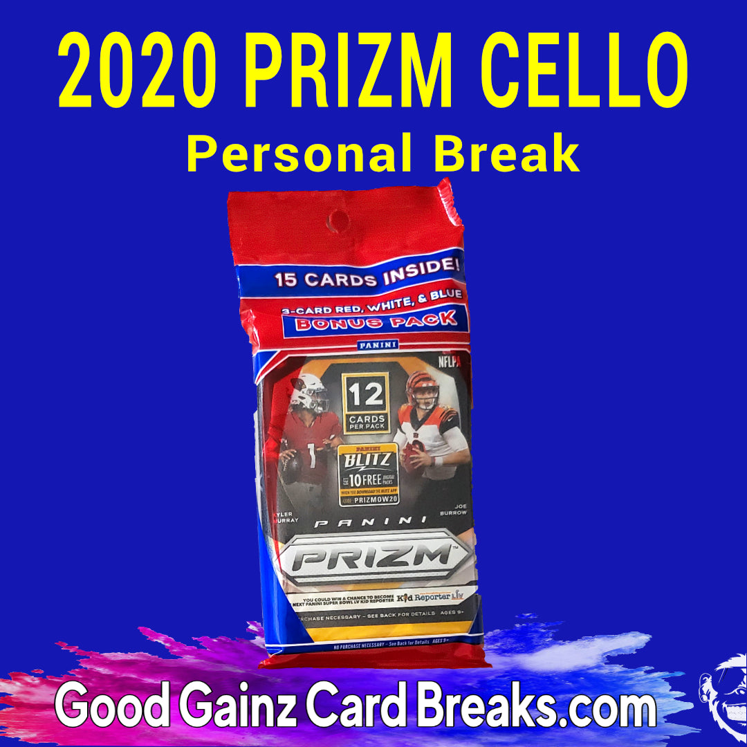 PERSONAL 2020 PANINI PRIZM FOOTBALL CELLO PACK BREAK