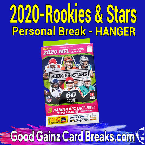 PERSONAL 2020 PANINI ROOKIES & STARS FOOTBALL HANGER BOX BREAK