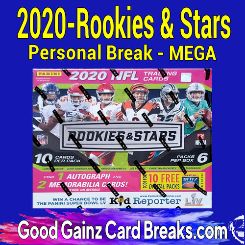 PERSONAL 2020 PANINI ROOKIES & STARS FOOTBALL MEGA BREAK