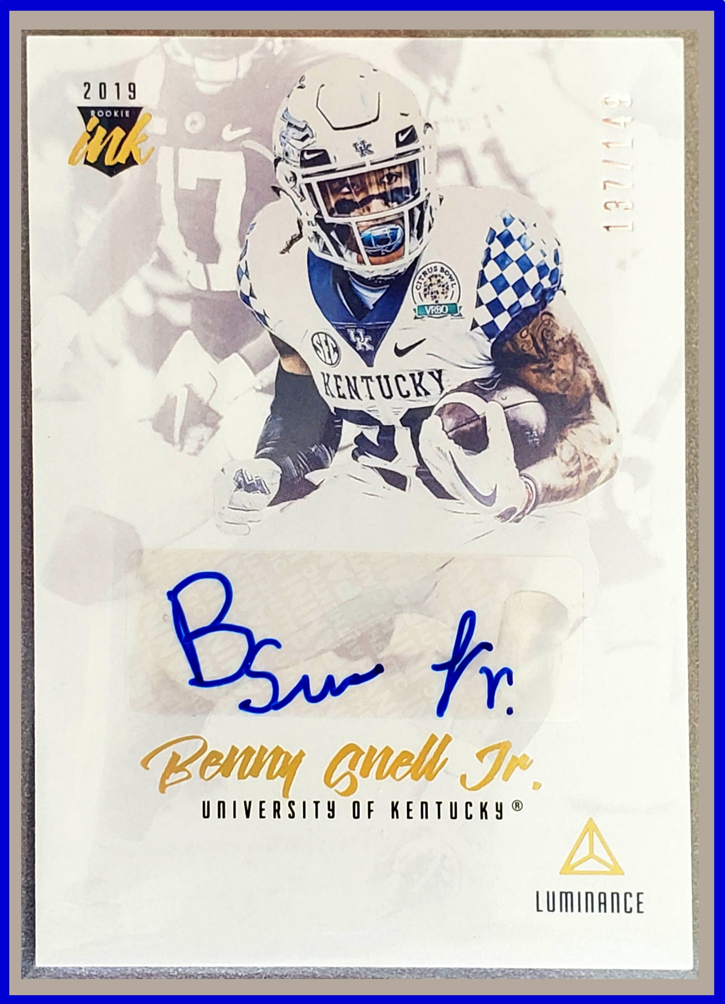 Benny Snell Jr Rookie Ink Auto /149