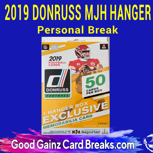 PERSONAL 2019 PANINI DONRUSS MJH EXCLUSIVE FOOTBALL HANGER BOX BREAK