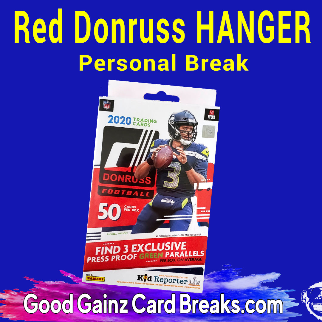 PERSONAL 2020 PANINI DONRUSS FOOTBALL (TARGET) HANGER BOX BREAK