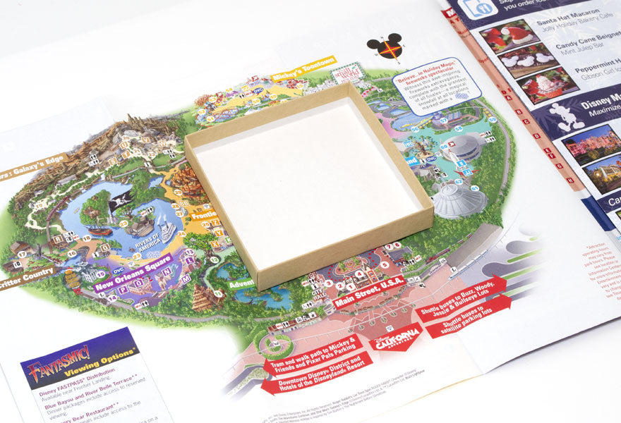 DIY Disneyland Theme Park Map Jewelry Box
