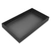 "1 1/2"" Black Linen Wooden Jewelry Display Standard Tray"