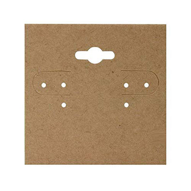 "1 1/2"" x 1 1/2"" Kraft Paper Hanging Earring Cards"