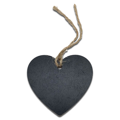 "1 1/2"" x 2 7/8"" Heart Shaped Wood Chalkboard Price Tag, 6 Pack"